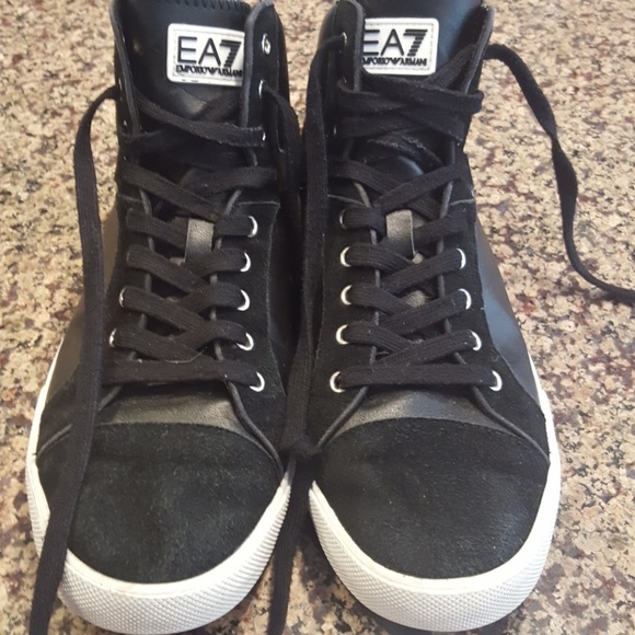 superior quality 8a9c8 8c0b4 Emporio Armani 7 high top sneakers